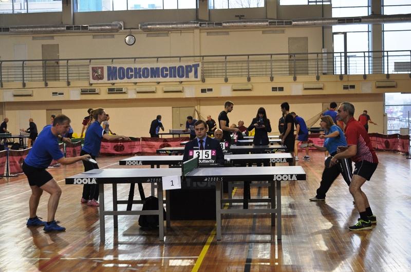 Соревнования по настольному теннису прошли в ЮЗАО